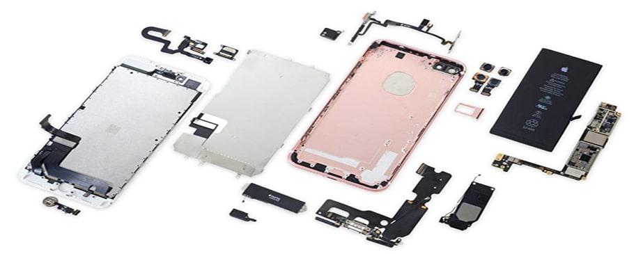 قسمت های مختلف موبایل