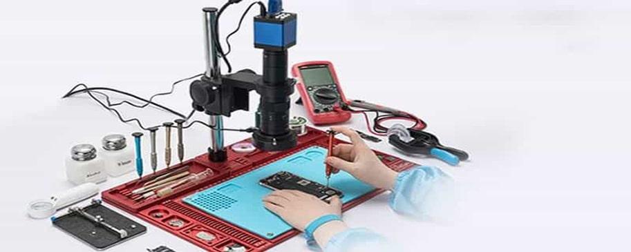 کار با دستگاه های اندازه گیری تعمیرات موبایل