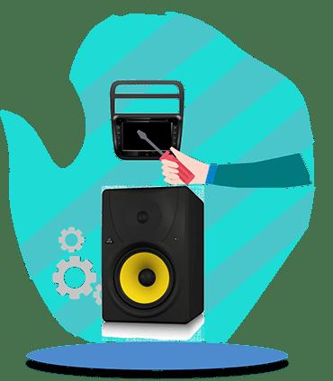 آموزش نصب ضبط و باند ماشین