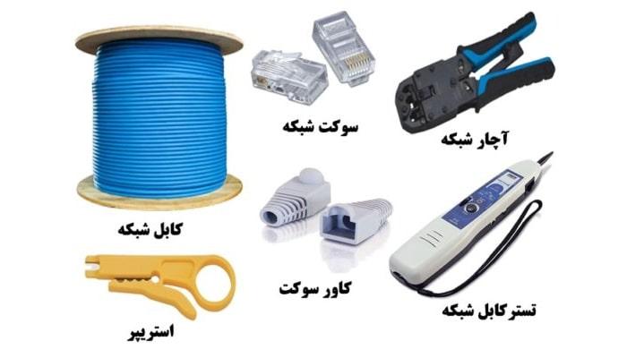 ابزار سوکت زدن کابل شبکه