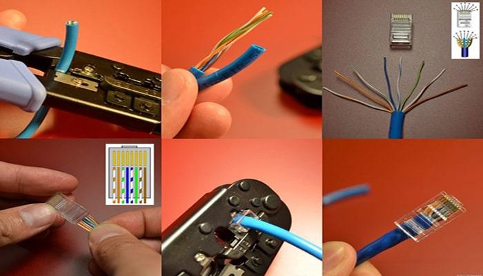 مراحل سوکت کابل شبکه