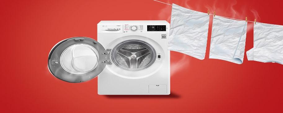 علت داغ شدن آب ماشین لباسشویی